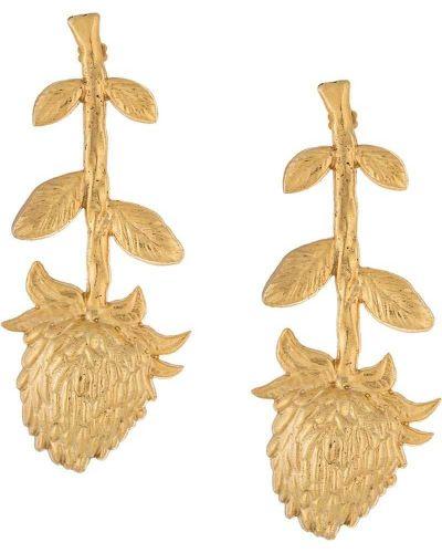 Серьги удлиненные золотой Natia X Lako