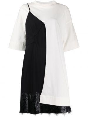 Черное ажурное платье круглое с круглым вырезом Litkovskaya
