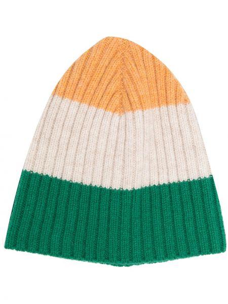 Зеленая шапка бини из овчины Ymc