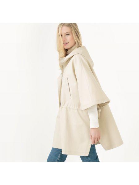 Пальто с капюшоном до колен с воротником La Redoute Collections
