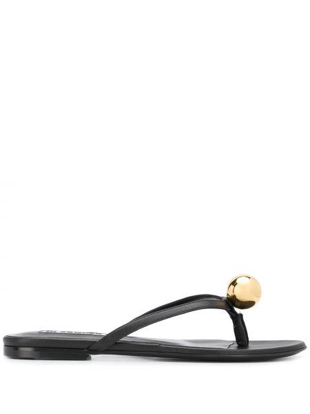 Sandały skórzany czarne Jil Sander