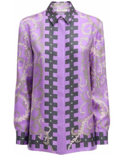 Розовая рубашка на пуговицах Emilio Pucci