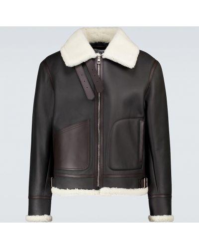 Кожаная куртка винтажная - белая Loewe