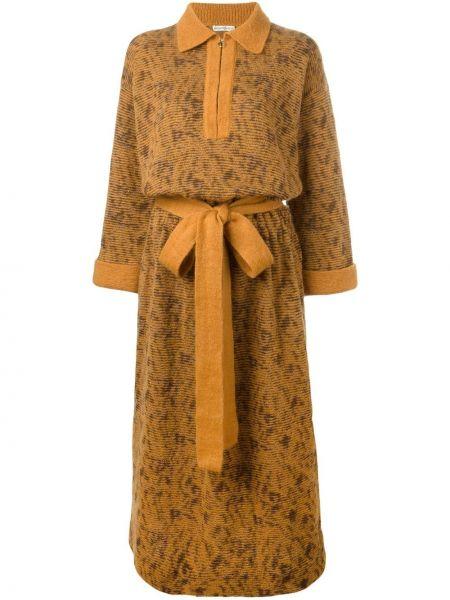 Платье с поясом винтажная платье-свитер Yves Saint Laurent Pre-owned