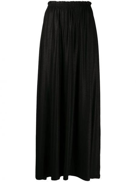 Черная юбка макси стрейч из вискозы Majestic Filatures