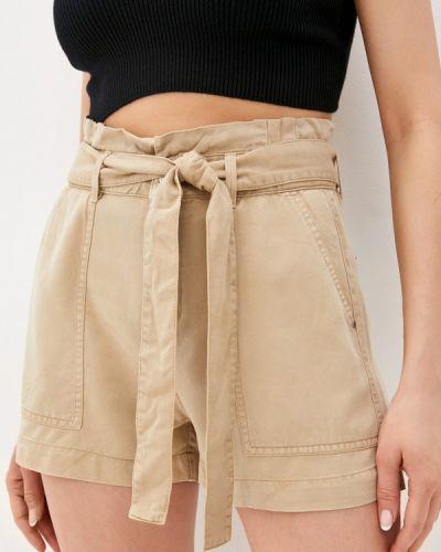 Повседневные бежевые джинсовые шорты Guess Jeans