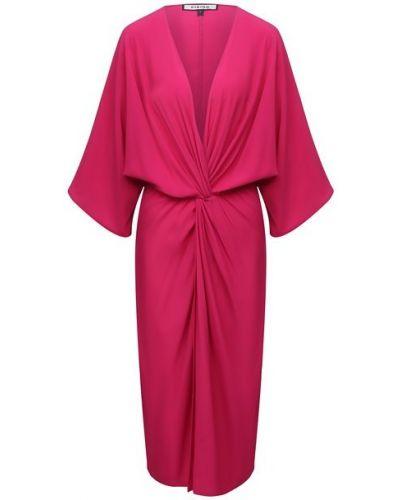 Шелковое розовое платье Fisico