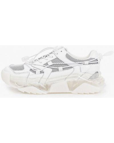 Белые текстильные кроссовки Escan