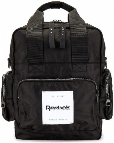 Czarna torba na ramię szkolna srebrna Reebok X Victoria Beckham