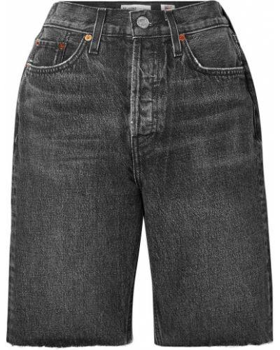 Джинсовые шорты - серые Re/done