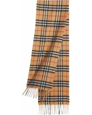 Коричневый кашемировый шарф винтажный Burberry Kids