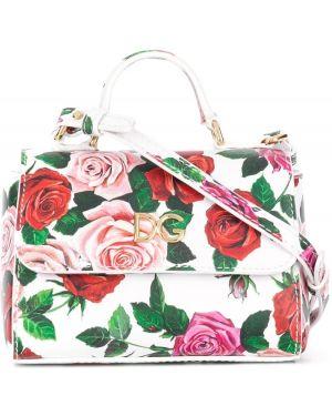 Сумка с цветочным принтом Dolce & Gabbana Kids