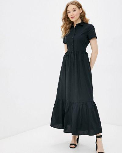 Черное платье-рубашка United Colors Of Benetton