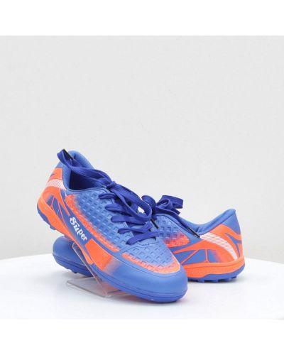 Синие кожаные кроссовки среднего размера Caroc