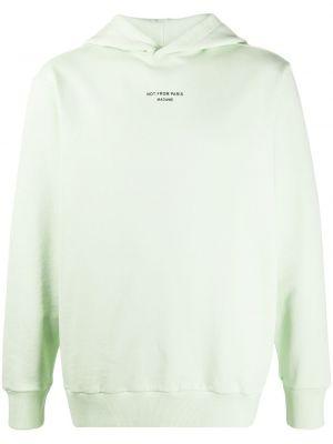 Zielona bluza długa z kapturem bawełniana Drole De Monsieur