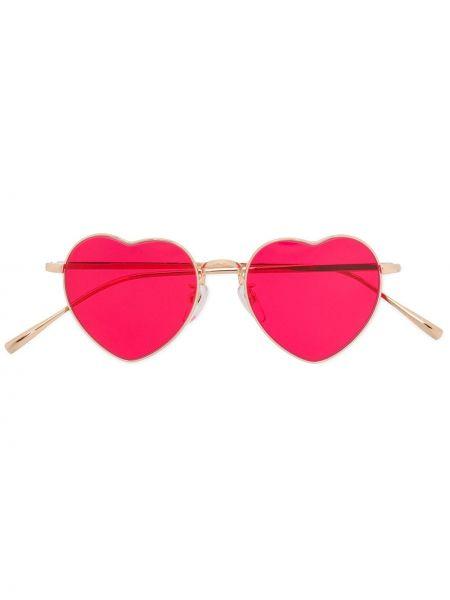 Złote okulary khaki Undercover