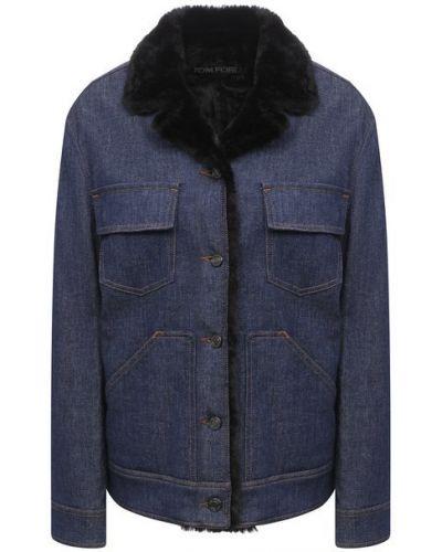 Хлопковая джинсовая куртка - синяя Tom Ford