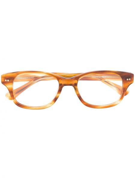 Brązowe okulary z akrylu Epos