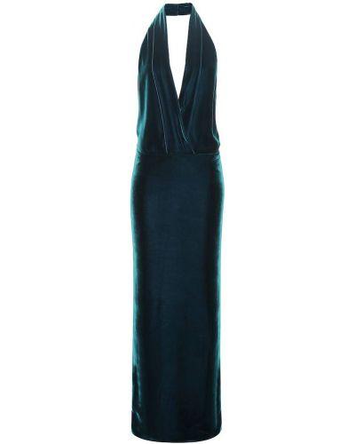 Вечернее платье из вискозы синее Tom Ford