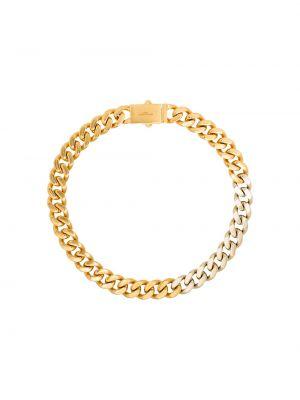 Золотистая цепочка золотая Saint Laurent