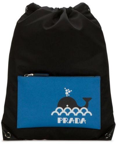 Czarny plecak Prada