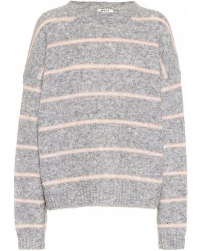 Trykotowy szary sweter z moheru Acne Studios