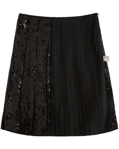 Czarna spódnica z cekinami N°21