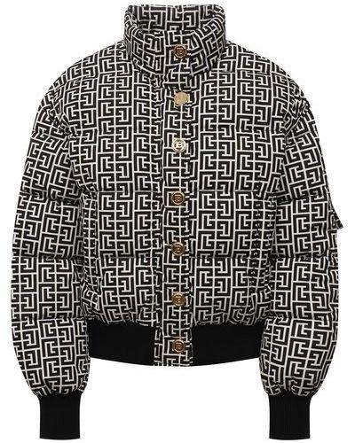 Пуховая куртка - белая Balmain