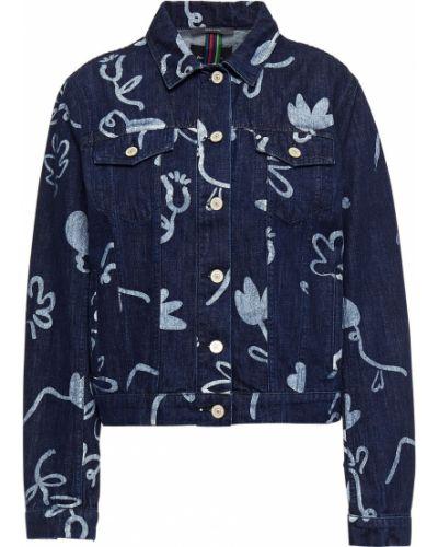 Хлопковая ватная синяя джинсовая куртка Ps Paul Smith