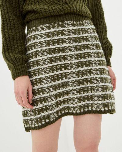 Зеленая прямая юбка карандаш By Swan