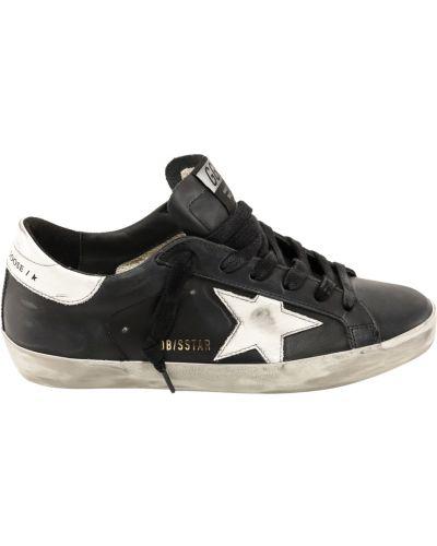 Czarne buty sportowe skorzane Golden Goose