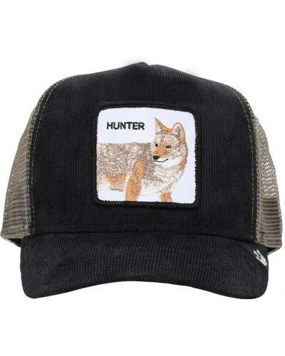 Aksamit z paskiem czarny kapelusz z haftem Goorin Bros