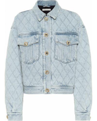 Ватная синяя стеганая джинсовая куртка Alessandra Rich