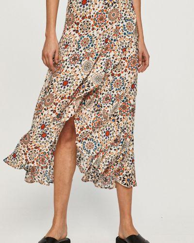 Spódnica z falbanami z wiskozy Desigual