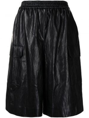 Черные кожаные шорты с поясом Juun.j