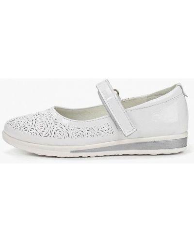 Туфли лаковые белые юничел