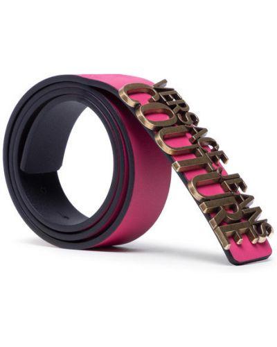Różowy pasek Versace Jeans Couture