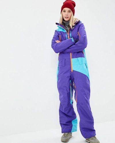 Комбинезон горнолыжный фиолетовый Snow Headquarter