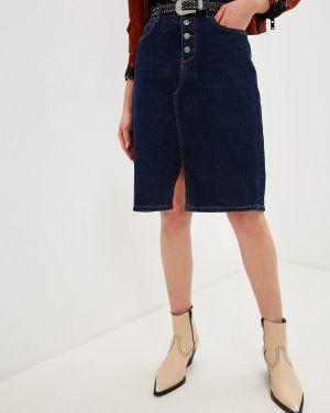 Джинсовое платье осеннее синее Mossmore