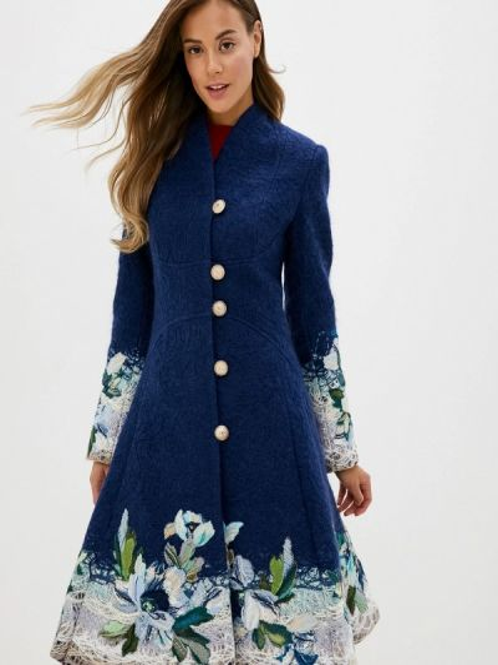 Синее пальто Yukostyle
