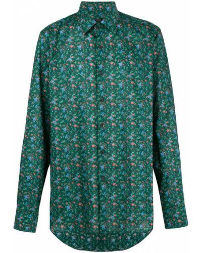 Рубашка с длинным рукавом с принтом с цветочным принтом Prada