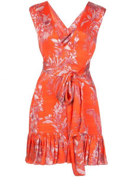 Платье мини с цветочным принтом с V-образным вырезом Alexis