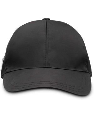 Czapka z logo czarny Prada