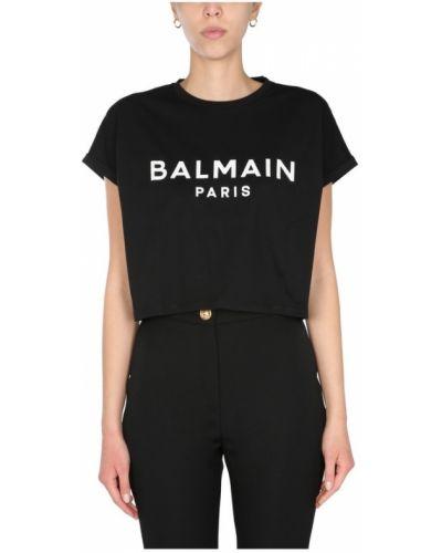 Czarny t-shirt Balmain