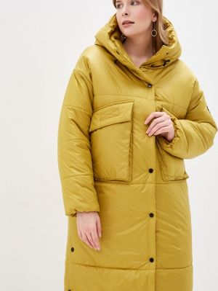 Теплая желтая утепленная куртка симпатика