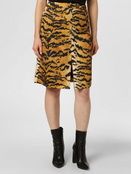 Pomarańczowa spódnica w paski Essentiel Antwerp