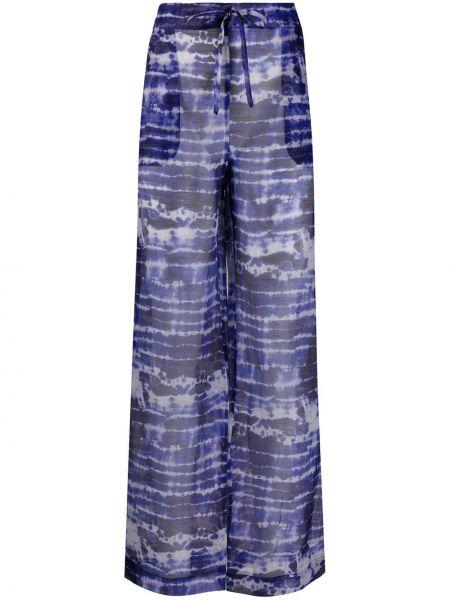 Брючные прямые льняные брюки с воротником Beau Souci