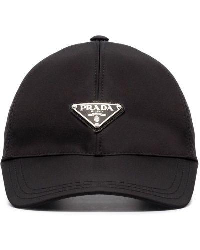 Bawełna bawełna baseball z paskiem czapka Prada