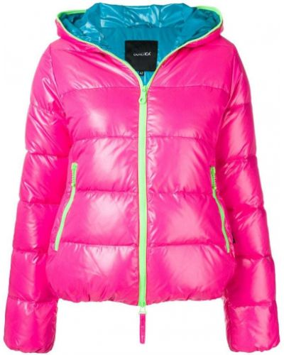 Куртка с капюшоном розовая на молнии Duvetica