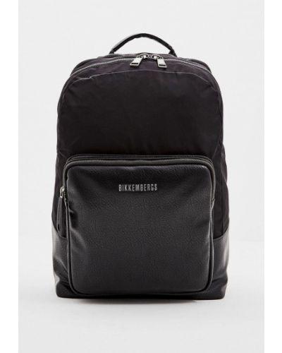 Рюкзак черный из искусственной кожи Bikkembergs